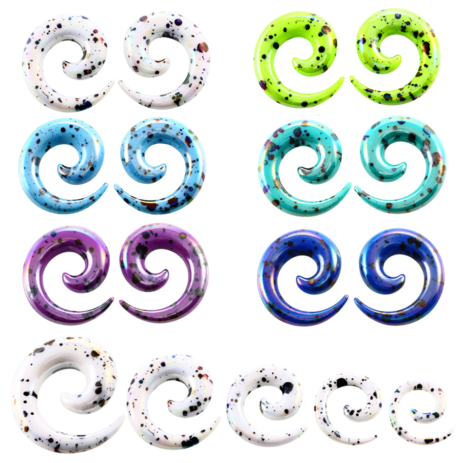 2pcs Acrylic Spiral Ear Gauges Ear Tapers Stretching Ear Plugs and