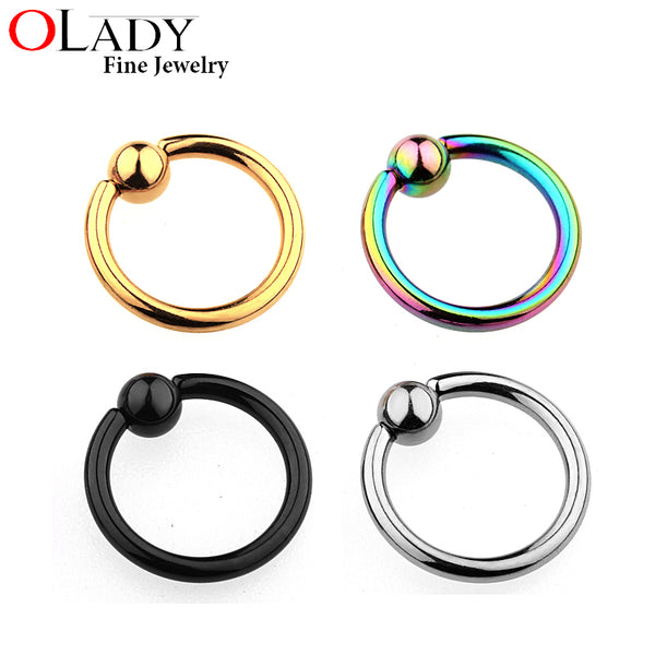 100% Titanium Tragus Ear Piercing Captive Bead Ring BCR gauge 1.2mm