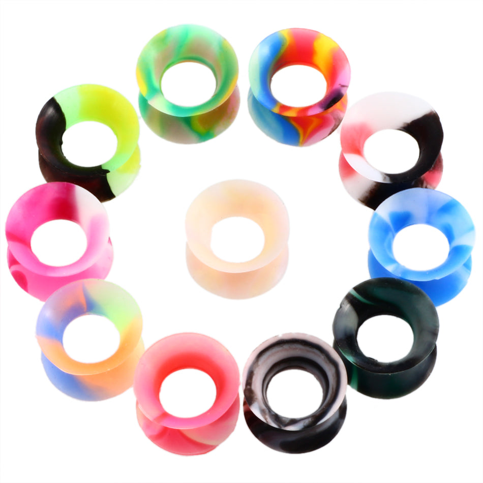 22pcs/lot Silicone  Ear Piercings Flexible Ear Plugs and Tunnels