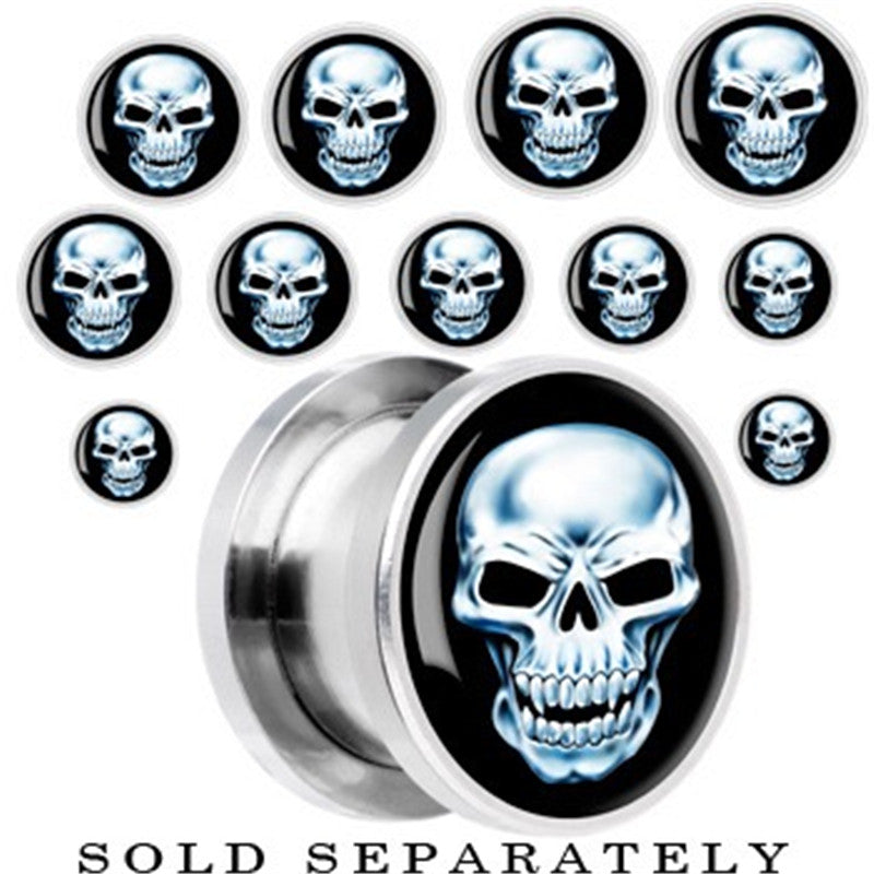 1 Piece Stainless steel Skulls Ear Plugs Tunnels Flesh Expansions