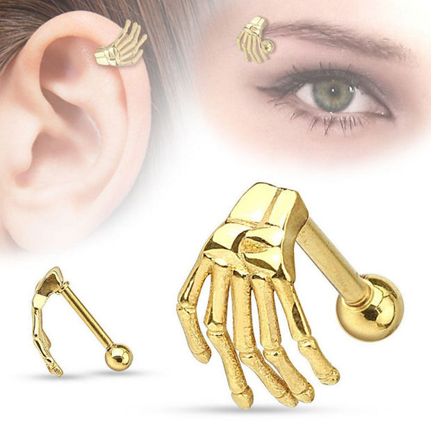 Stainless Steel 3 Colors  Fashion Tragus Ear Eyebrow Piercing