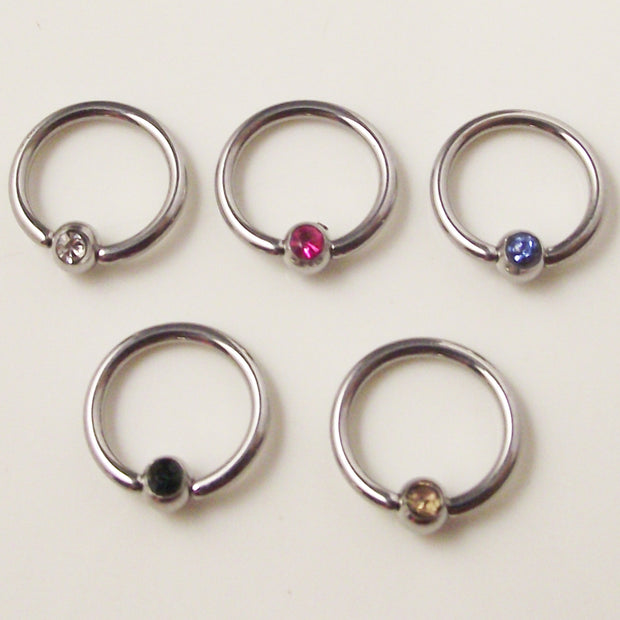 SaYao 5Piece Stainless Steel Captive Hoop Rings CBR Eyebrow Tragus