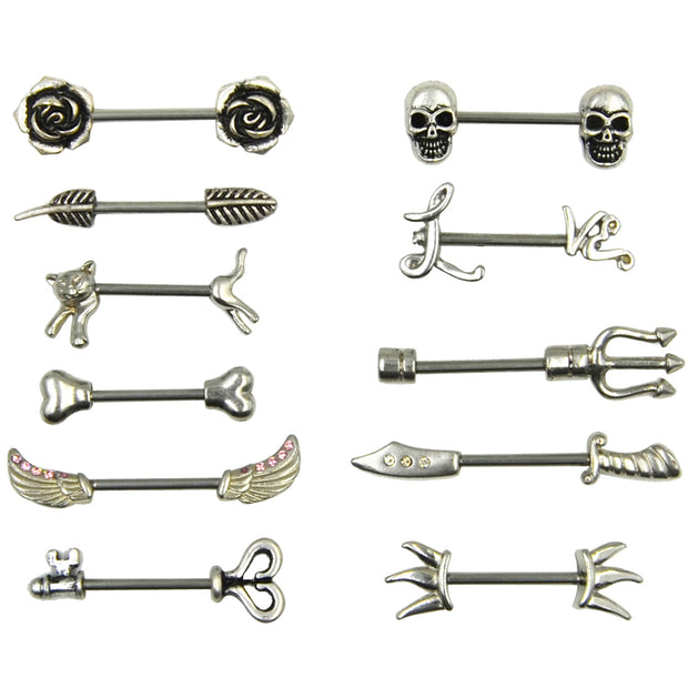 Stainless Steel Nipple Ring Piercing Barbell Body