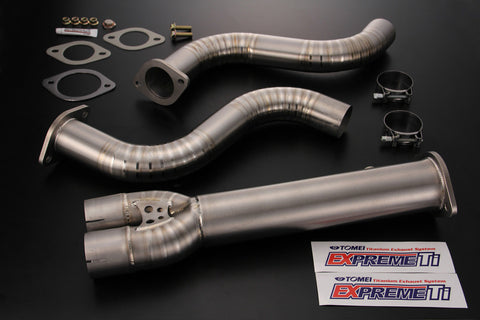 Tomei Expreme Ti Titanium Mid Y-Pipe Exhaust Nissan 370 & 350z - Dialed In Racing