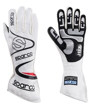 Sparco Gloves Arrow Size 11 White - Dialed In Racing