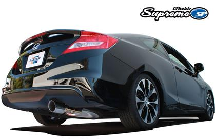 GReddy Cat-Back Exhaust, 76mm Supreme SP - 2012-2015 Honda Civic SI Coupe - Dialed In Racing