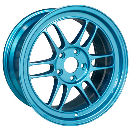 Enkei RPF1 17x9 5x114.3 22mm Offset 73mm Bore Emerald Blue Wheel - Dialed In Racing