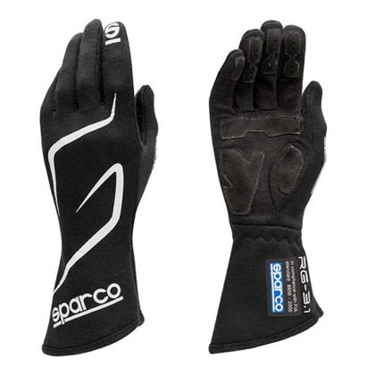 Sparco Gloves Land RG3 Size 8 Black - Dialed In Racing
