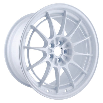 Enkei NT03+M 18x9.5 5x100 40mm Offset Vanquish White Wheel - Dialed In Racing