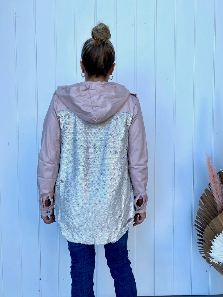 SEQUIN BACK JACKET - CIPRIA