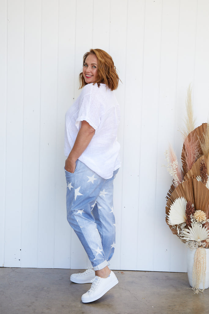 STAR PANTS - LIGHT DENIM