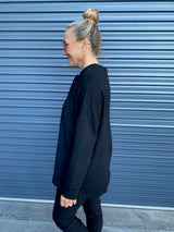 TIE NECK SWEAT - BLACK