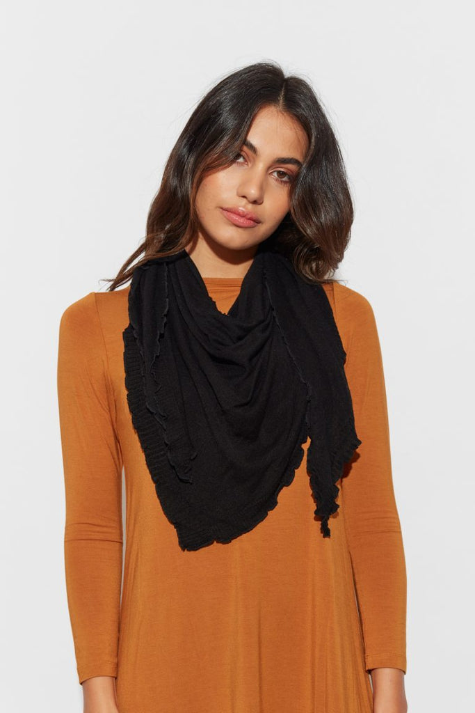 THE SASSOON SCARF - BLACK