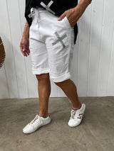KISS ME SHORTS - WHITE