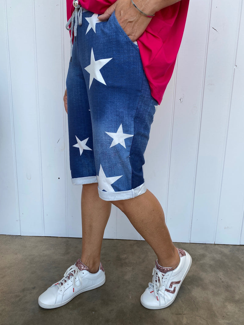 STAR SHORTS - DENIM