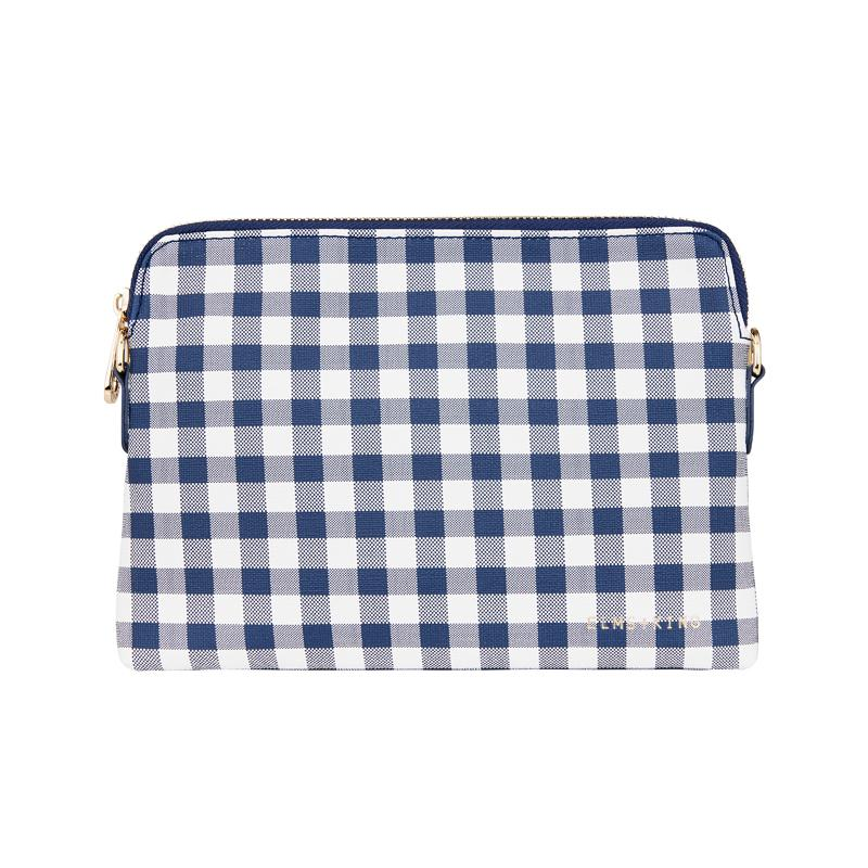 BOWERY WALLET - NAVY GINGHAM