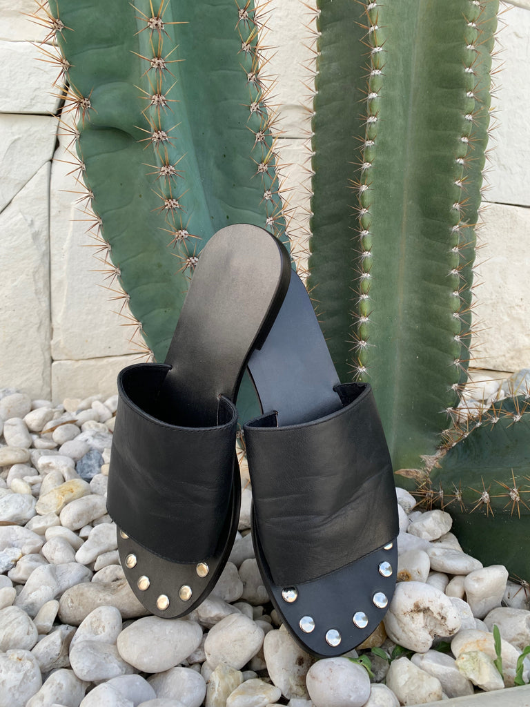 STUD SLIDE - BLACK