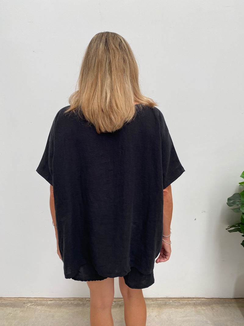 HINLEY TOP - BLACK