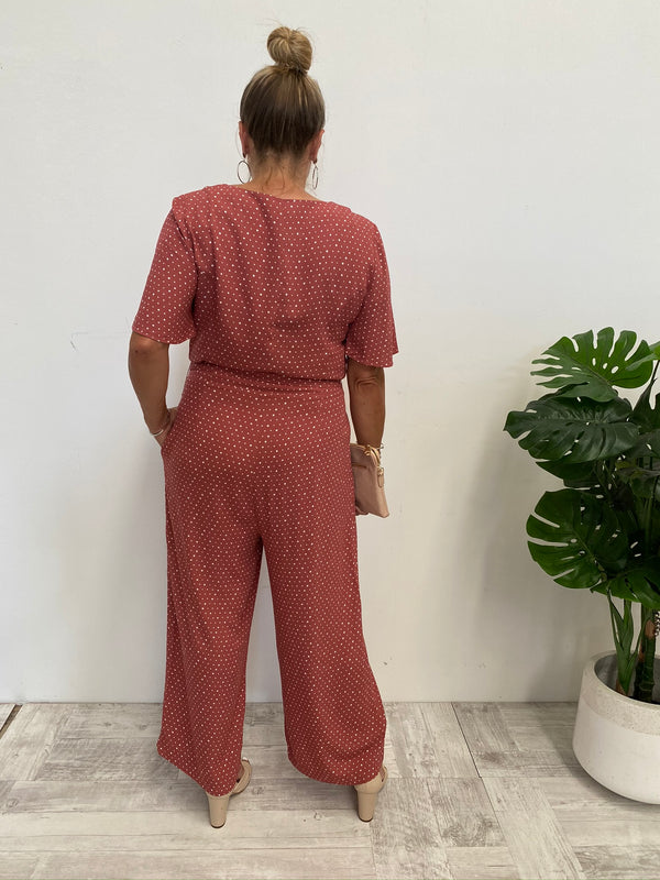 VISION OF LOVE JUMPSUIT - BERRY SPOT