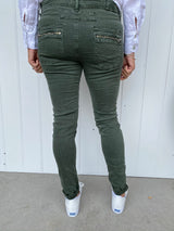 BUTTON JEAN - MILITARY