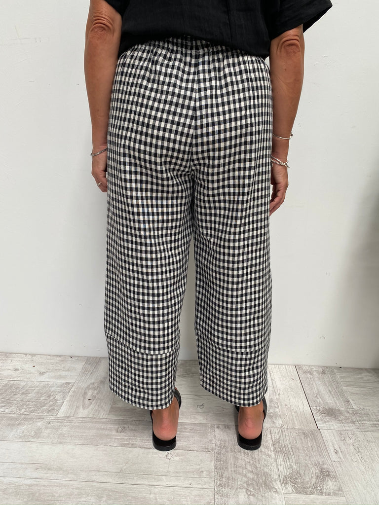 PEARCE PANT - BLACK GINGHAM