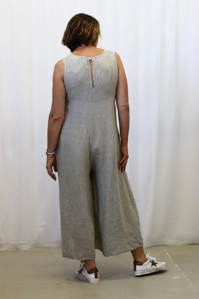 CHARLOTTE LINEN JUMPSUIT NATURAL