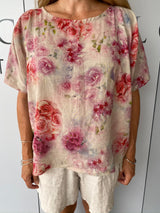 HINLEY TOP - DUSTY FLORAL