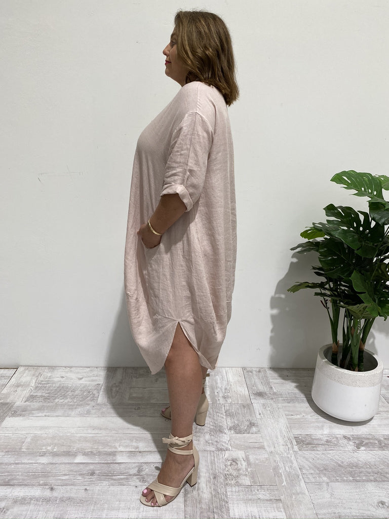 SCALLOP DRESS - ROSE