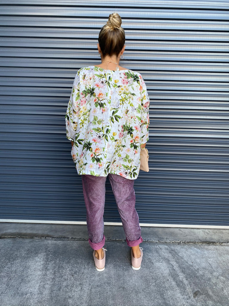 HINLEY TOP SLEEVED - SPRING FLORAL