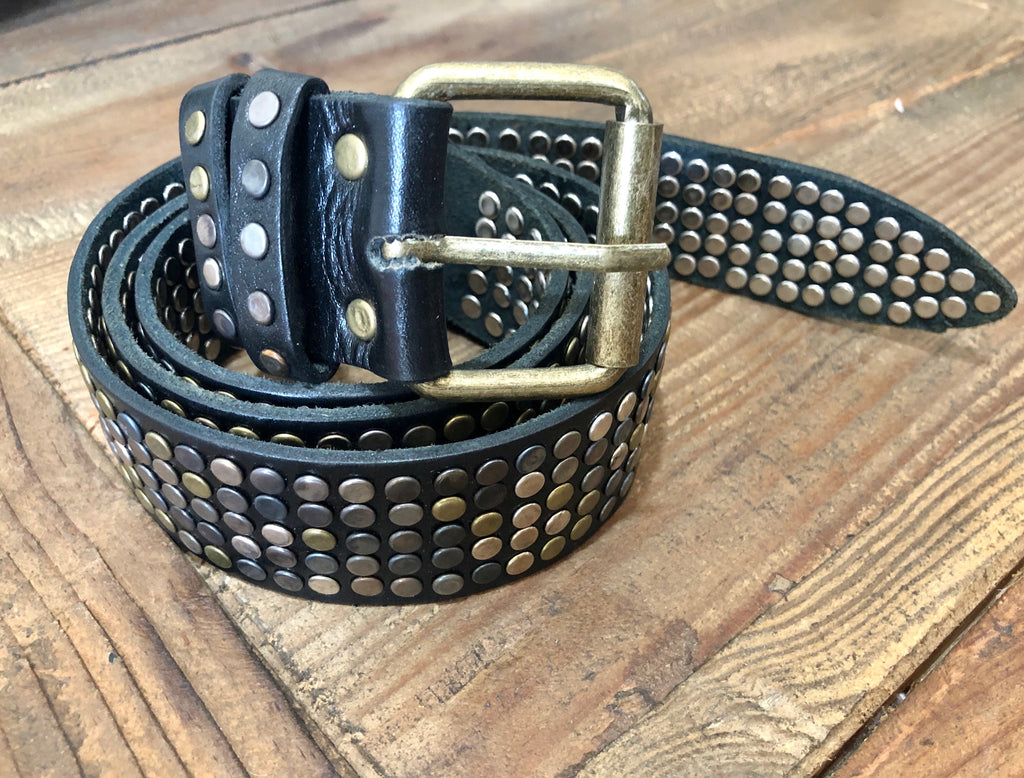 MOROCCAN STUD BELT - BLACK