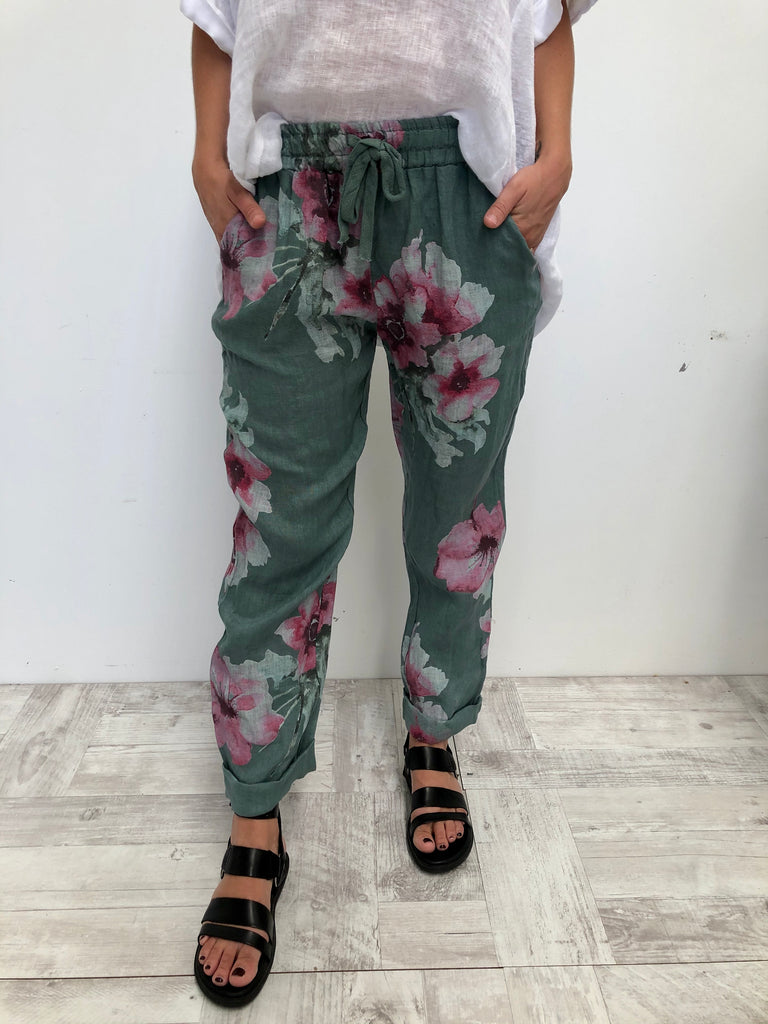 FREYA PANT - SEA GREEN
