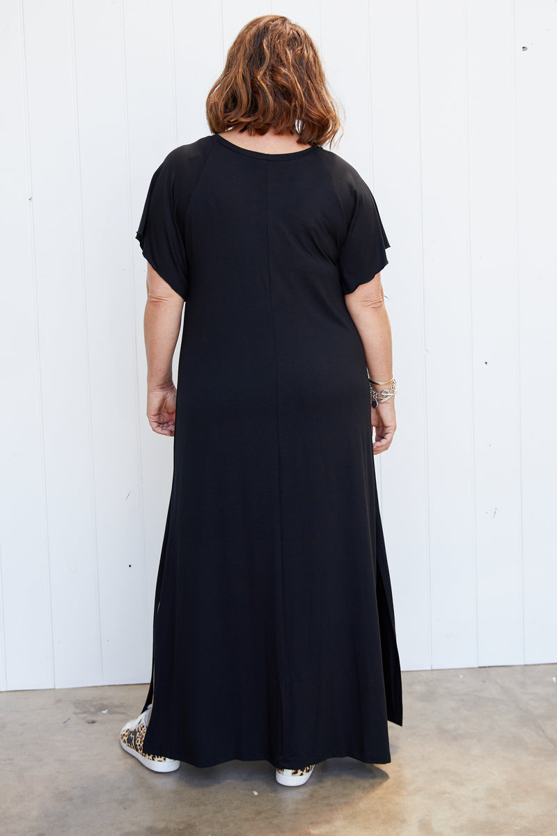 SIMMS S/S DRESS - BLACK