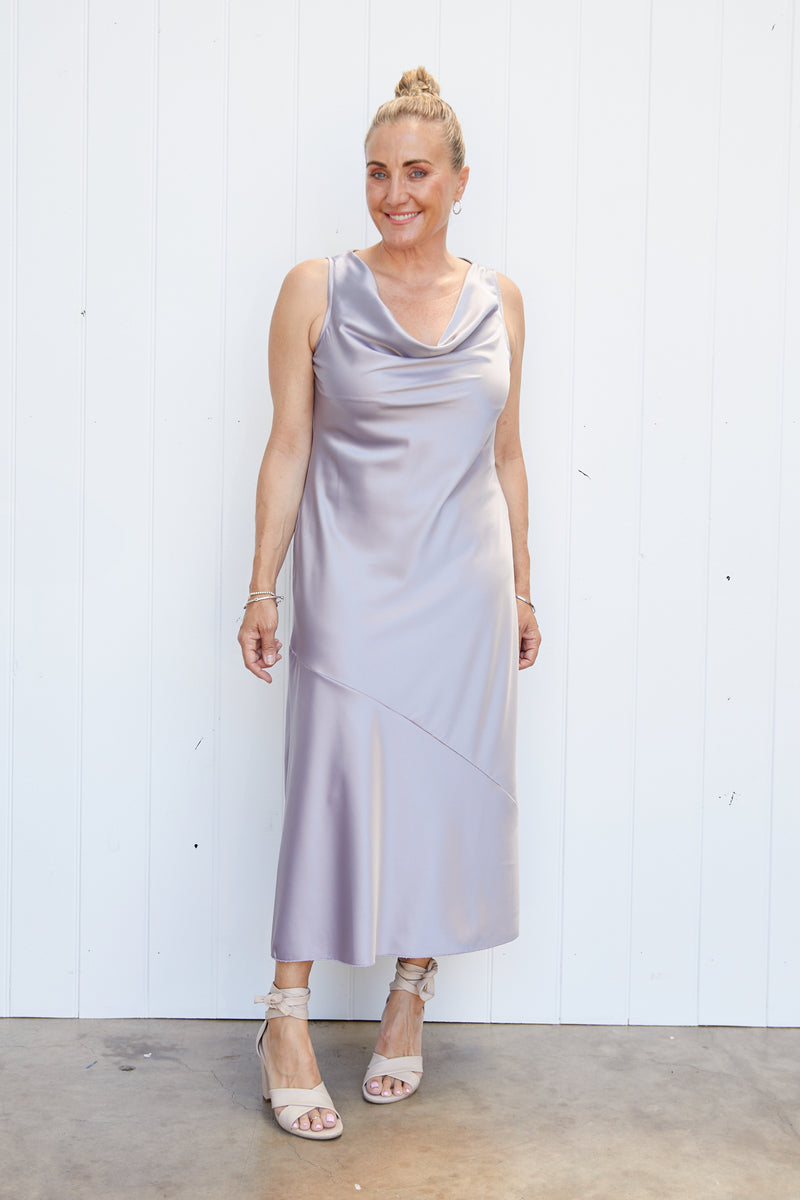 RHEA DRESS - PERLE GREY