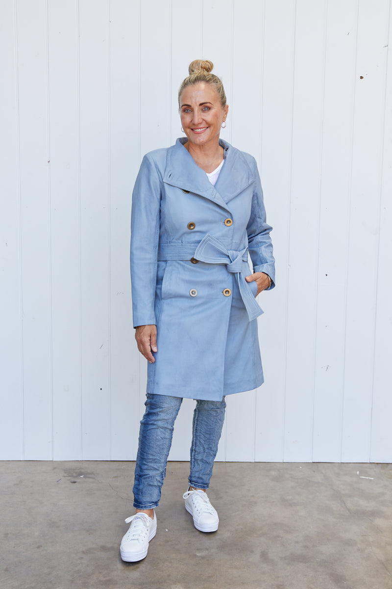 OCEANIC WASHED LEATHER COAT