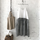 HIGH TEA SLIP DRESS - BLACK & WHITE GINGHAM