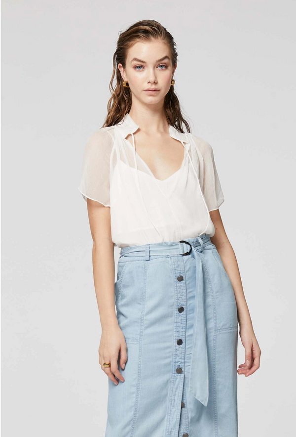MALI REVERSIBLE TOP - WHITE