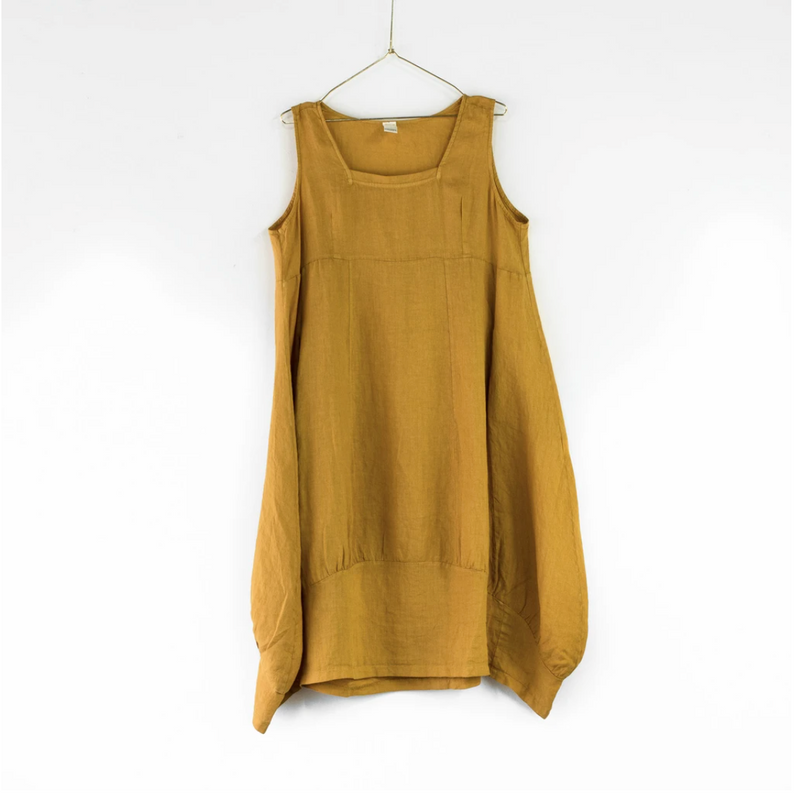 PINAFORE DRESS - MUSTARD