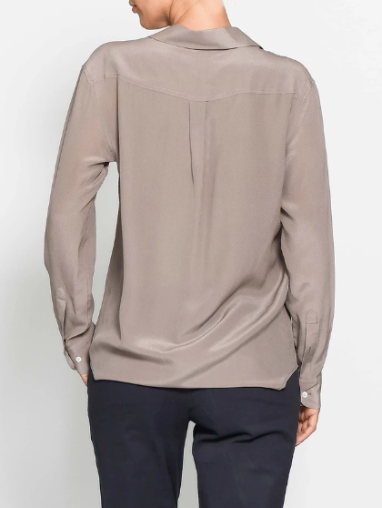 DUNE SILK SHIRT - ROSE