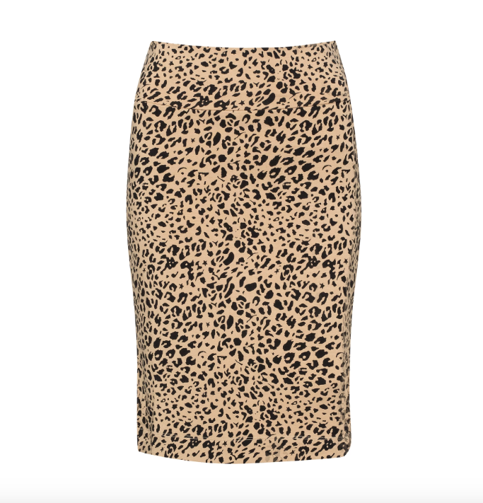 WHITNEY TUBE SKIRT LINED - LEOPARD