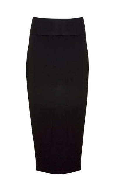 LONG WHITNEY TUBE SKIRT - BLACK