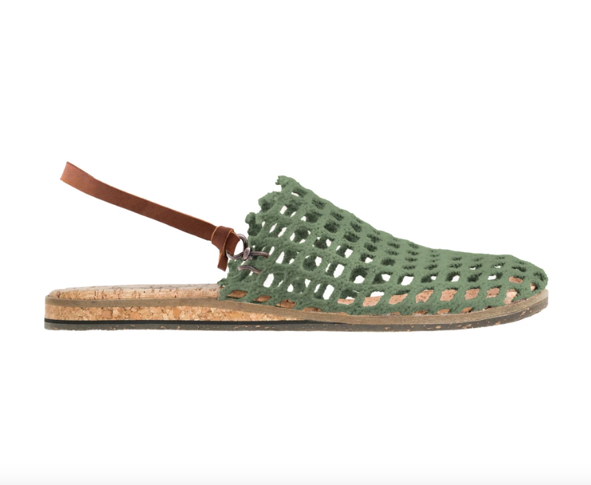 FISHING NET SANDALS - FOREST