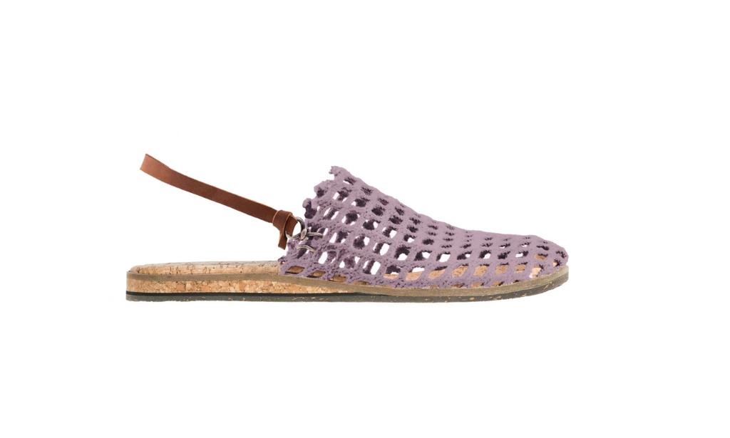 FISHING NET SANDALS - POWDER