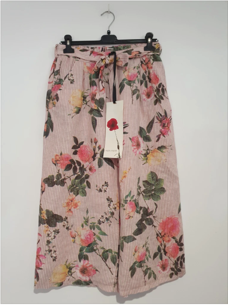 LIZZY FLORAL PANT - ROSE