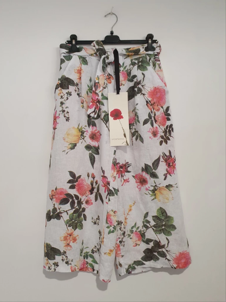 LIZZY FLORAL PANT - WHITE