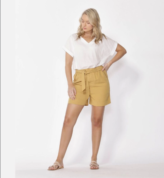 GOLDEN HOUR SHORTS - MUSTARD