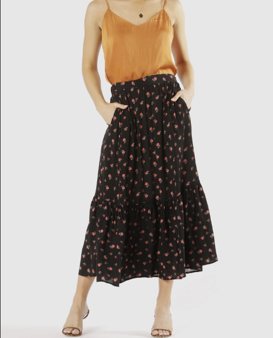 SWEET LIKE HONEY SKIRT - DESERT FLORAL
