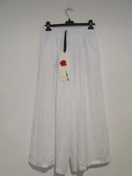 ARIA WIDE LEG PANT - WHITE