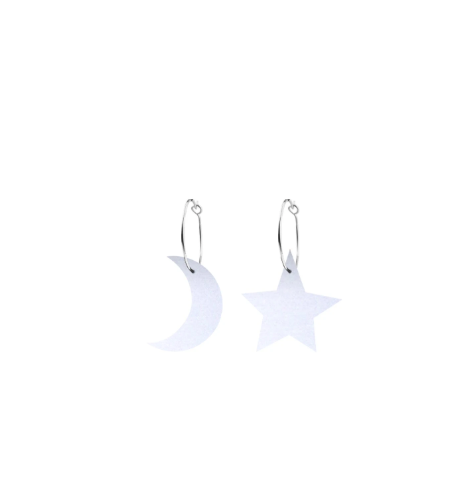 SIGNATURE STARS AND MOONS HOOP EARRINGS