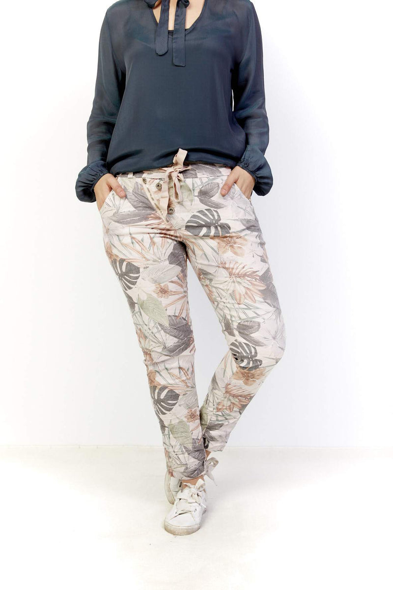 GARDENIA PULL ON PANT - ROSA