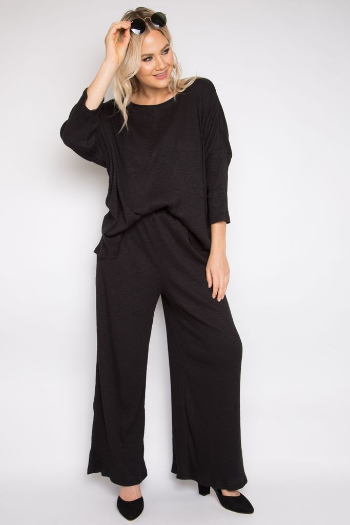 BELLE  PANT - BLACK KNIT